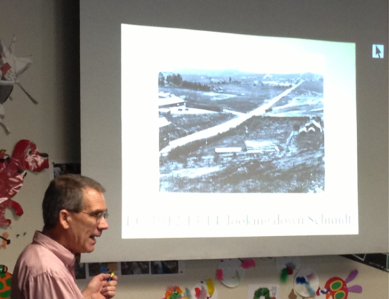 Tom Panas talked how the El Cerrito Library was established in 1913.