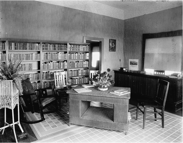 El Cerrito Library at the Breneman house in early 1900s