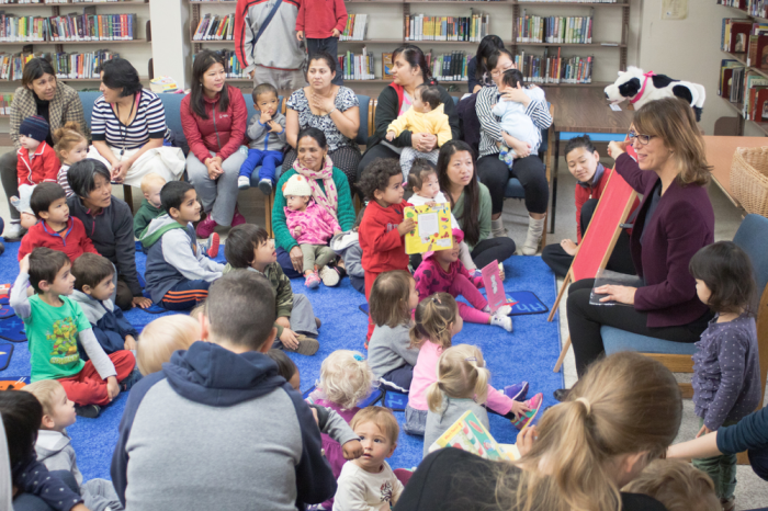 Children reading program at El Cerrito Library. © 2015 Thomas Rogers.