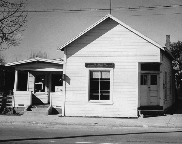 El Cerrito Library on Fairmount Ave. in 1925. Source: Friends of El Cerrito Library.