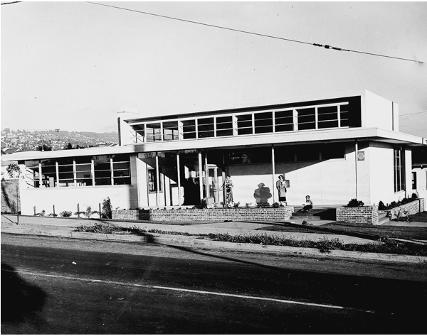 El Cerrito Library on Stockton Ave. in 1948. Source: Friends of El Cerrito Library.