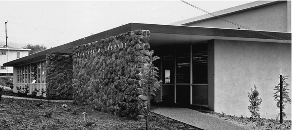 El Cerrito Library on Stockton Ave. in 1960.